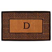 """Home & More Grecian Monogrammed """"D"""" 18-Inch x 30-Inch Thick Door Mat in Natural"""