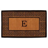 """Home & More Grecian Monogrammed """"E"""" 18-Inch x 30-Inch Thick Door Mat in Natural"""