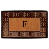 "Home & More Grecian Monogrammed ""F"" 18-Inch x 30-Inch Thick Door Mat in Natural"