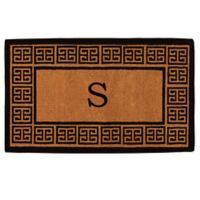 """Home & More Grecian Monogrammed """"S"""" 36-Inch x 72-Inch Thick Door Mat in Natural"""