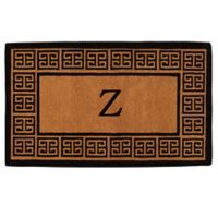 """Home & More Grecian Monogrammed """"Z"""" 36-Inch x 72-Inch Thick Door Mat in Natural"""