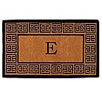 "Home & More Grecian Monogrammed ""E"" 36-Inch x 72-Inch Thick Door Mat in Natural"