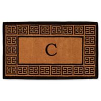 """Home & More Grecian Monogrammed """"C"""" 36-Inch x 72-Inch Thick Door Mat in Natural"""
