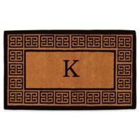 """Home & More Grecian Monogrammed """"K"""" 36-Inch x 72-Inch Thick Door Mat in Natural"""