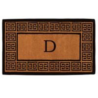 """Home & More Grecian Monogrammed """"D"""" 36-Inch x 72-Inch Thick Door Mat in Natural"""