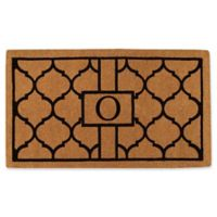 """Home & More Pantera Monogrammed """"O"""" 24-Inch x 36-Inch Thick Door Mat in Natural/Black"""