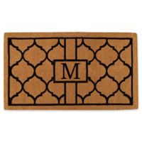 """Home & More Pantera Monogrammed """"M"""" 24-Inch x 36-Inch Thick Door Mat in Natural/Black"""