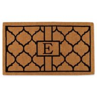 "Home & More Pantera Monogrammed ""E"" 36-Inch x 72-Inch Thick Door Mat in Natural/Black"