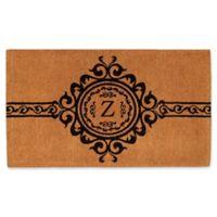 "Home & More Garbo Monogrammed ""Z"" 24-Inch x 36-Inch Thick Door Mat"