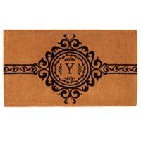 "Home & More Garbo Monogrammed ""Y"" 24-Inch x 36-Inch Thick Door Mat"