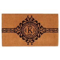 """Home & More Garbo Monogrammed """"K"""" 24-Inch x 36-Inch Thick Door Mat"""