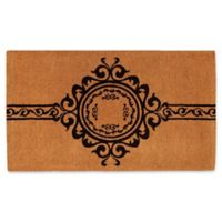 Home & More Garbo 36-Inch x 72-Inch Thick Door Mat in Natural/Black
