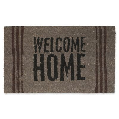 Fab Habitat Welcome Home 18 Inch X 30 Inch Indoor/Outdoor Door Mat