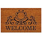 Home & More 24-Inch x 36-Inch Kingston Welcome Door Mat in Natural/Black