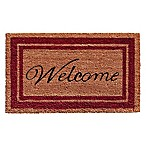 Home & More 18-Inch x 30-Inch Burgundy Border Welcome Door Mat in Natural