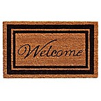 Home & More 18-Inch x 30-Inch Black Border Welcome Door Mat in Natural