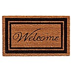 Home & More 24-Inch x 36-Inch Black Border Welcome Door Mat in Natural