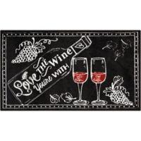 Nourison Love Wine 26-Inch x 45-Inch Door Mat