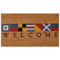 Home & More 17-Inch x 29-Inch Nautical Welcome Door Mat