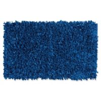 Nourison Shabright 1-Foot 8-Inch x 2-Foot 9-Inch Shag Accent Rug in Navy