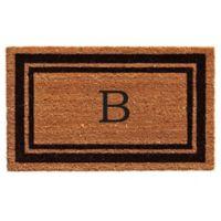 """Home & More """"B"""" Monogram 24-Inch x 36-Inch Door Mat in Black"""