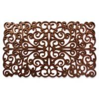 Home & More 18-Inch x30-Inch Scroll Door Mat in Bronze