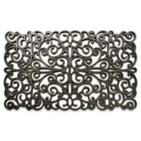 Home & More 18-Inch x30-Inch Scroll Door Mat in Silver