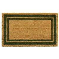 Home & More Sage Green Border 18-Inch x 30-Inch Door Mat in Natural