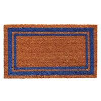 Home & More Blue Border 18-Inch x 30-Inch Door Mat in Natural