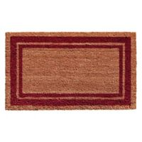Home & More Burgundy Border 18-Inch x 30-Inch Door Mat in Natural