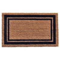 Home & More Dark Blue Border 18-Inch x 30-Inch Door Mat in Natural