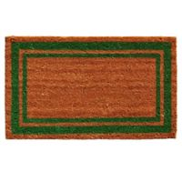 Home & More Green Border 18-Inch x 30-Inch Door Mat in Natural