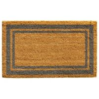 Home & More Periwinkle Border 18-Inch x 30-Inch Door Mat in Natural