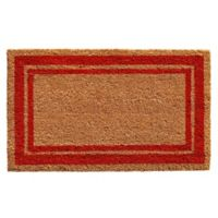 Home & More Red Border 18-Inch x 30-Inch Door Mat in Natural