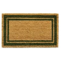 Home & More Sage Green Border 24-Inch x 36-Inch Door Mat in Natural