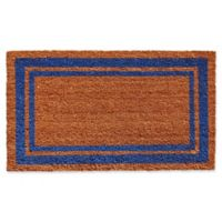 Home & More Blue Border 24-Inch x 36-Inch Door Mat in Natural