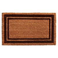 Home & More Brown Border 24-Inch x 36-Inch Door Mat in Natural