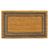 Home & More Periwinkle Border 24-Inch x 36-Inch Door Mat in Natural
