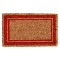 Home & More Red Border 24-Inch x 36-Inch Door Mat in Natural