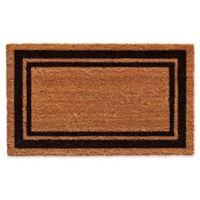 Home & More Black Border 24-Inch x 36-Inch Door Mat in Natural