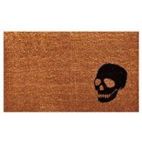 Home & More Skull 17-Inch x 29-Inch Door Mat in Black/Natural
