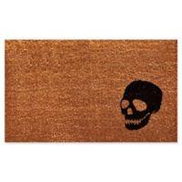 Home & More Skull 24-Inch x 36-Inch Door Mat in Black/Natural