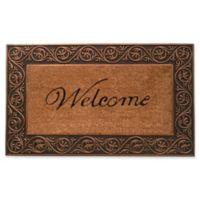 Home & More Prestige Welcome 18-Inch x 30-Inch Door Mat in Natural/Bronze