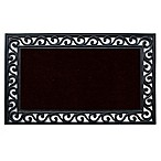 Home & More Midnight 18-Inch x 30-Inch Door Mat in Black