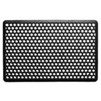 Home & More Anti-Fatigue 22-Inch x 34-Inch Rubber Door Mat in Black
