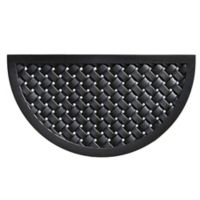 Home & More Hampton Weave 20-Inch x 36-Inch Rubber Door Mat in Black