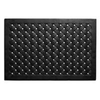 Home & More Hampton Weave 24-Inch x 36-Inch Rubber Door Mat in Black