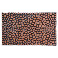 Home & More Pebbles 18-Inch x 30-Inch Rubber Door Mat in Bronze/Black