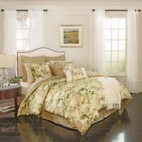 Waverly® Garden Glory 7-piece Reversible Queen Comforter Set in Mist