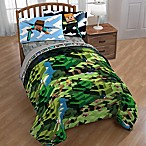 Minecraft Twin/Full Comforter in Green